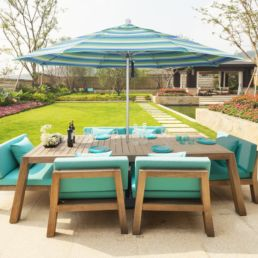 California Umbrella 11 Inch rd aluminum Tarson Pools