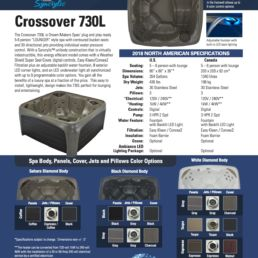 Crossover Spa Spec Sheet Dream Maker Tarson Pools Syracuse